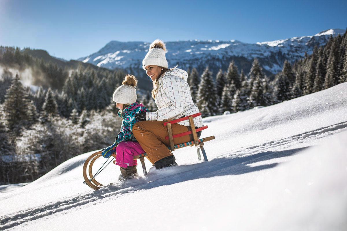 Rodeln, Winterurlaub im Salzburger Land