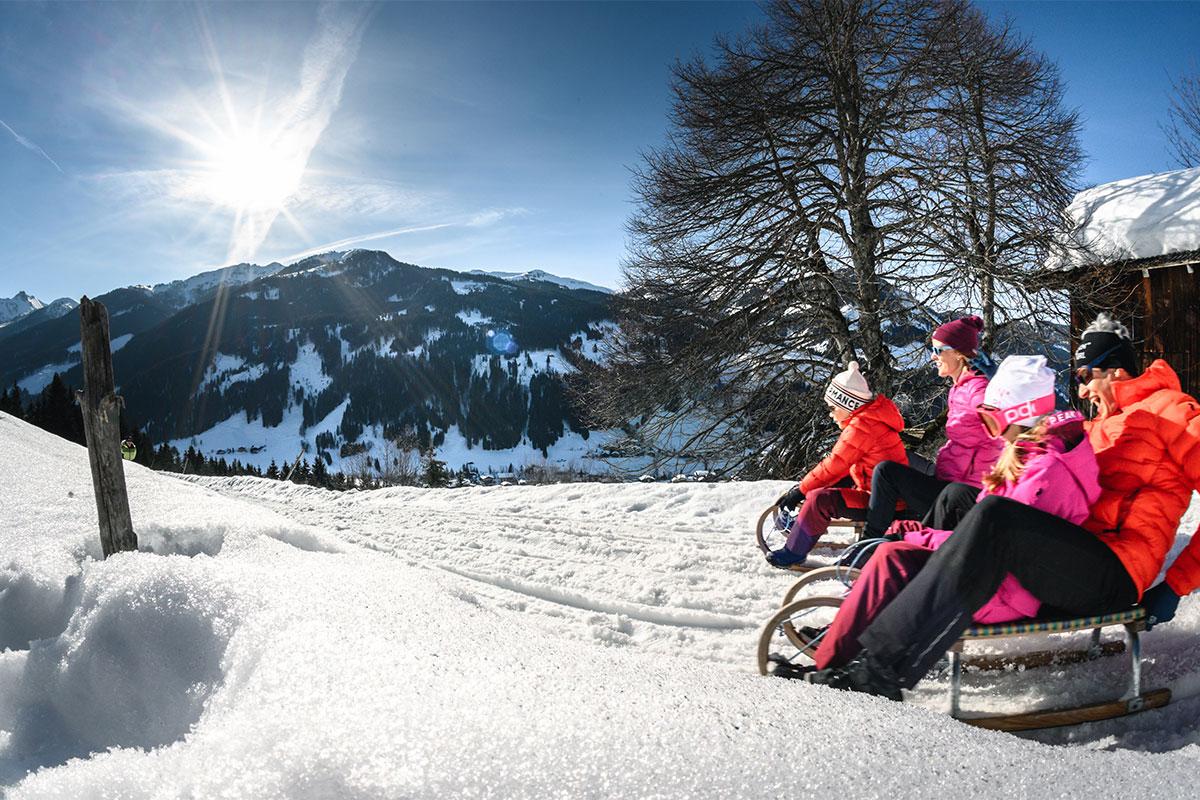 Rodeln Winterurlaub Salzburger Land 4