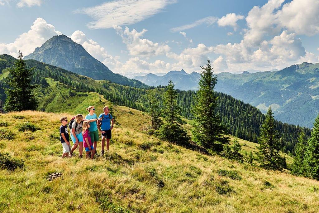 Familien-Wanderurlaub in Wagrain-Kleinarl, Salzburger Land