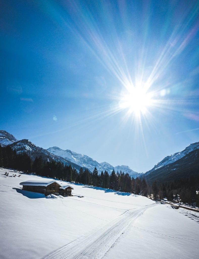 Langlaufloipe im Winterurlaub in Wagrain-Kleinarl, Salzburger Land
